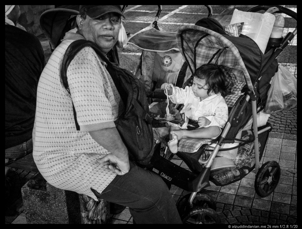Man with a stroller